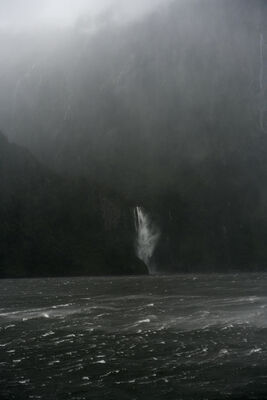 Jem Southam, 'A Sudden Squall, The Stirling Falls, Milford Sound, New Zealand, Autumn', 2018