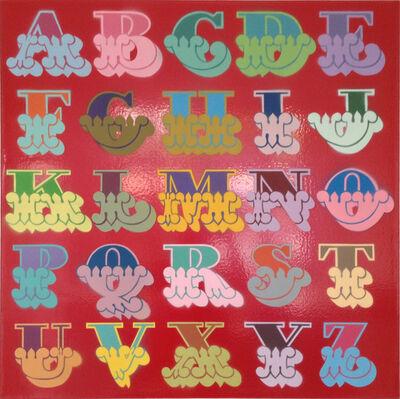 Ben Eine, 'A - Z red (circus font)'
