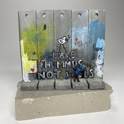 Banksy, 'SUMMER SALE / BANKSY Walled Off Hotel Wall Sculpture / MAKE HUMMUS NOT WALLS (2017) - RARE COLORS / Large 5 Sections', 2017