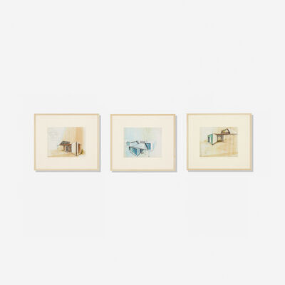 Raymond Loewy, 'Collection of Three Architectural Renderings', c.1960