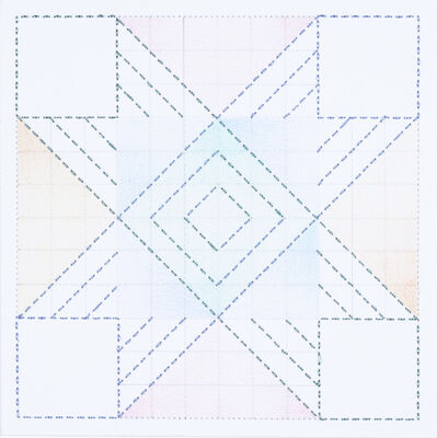 Cecilia Charlton, 'Quilted Composition [white // squares]', 2019