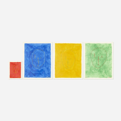 B. Wurtz, 'Untitled (Life Painting), four works', 1990