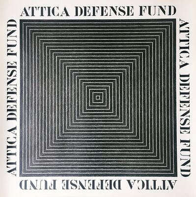 Frank Stella, 'Attica Defense Fund', 1975