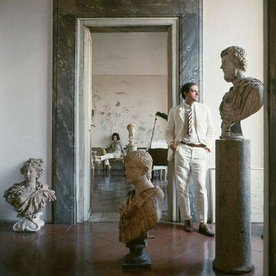 Horst P. Horst, 'Cy Twombly in Rome  - Untitled #9, Large Canvas Edition ', 1966