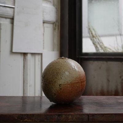 Shiro Tsujimura, 'Round Jar -natural ash graze- st00811', 1980-2010