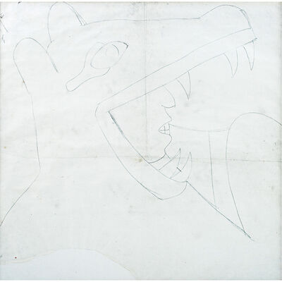 Diego Rivera, 'Caballero coyote, boceto mural', ca. 1929