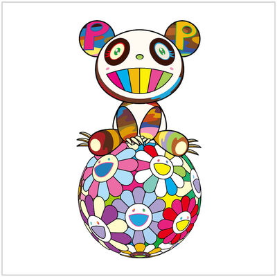 Takashi Murakami, 'Atop a Ball of Flowers, a Panda Cub Sits Properly', 2020