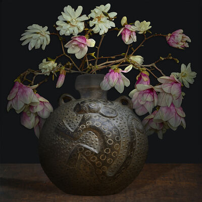 T.M. Glass, 'Magnolias in an Ancient American Vessel', 2017