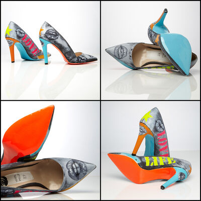 Emanuela Montorro, 'Cotton Candy - Love for Life - Genuine Leather Shoes', 2020