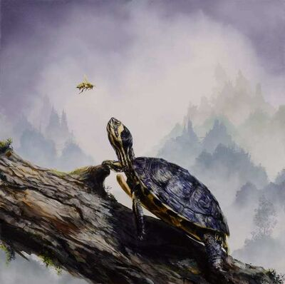 Brian Mashburn, 'Box Turtle and Honeybee', 2021