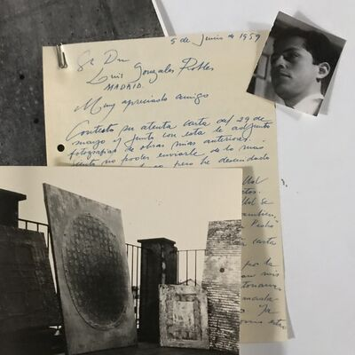 Enrique Tábara, 'Photographic set of the artist's first stage in Barcelona ', 1958-1960