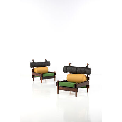 "Sergio Rodrigues, 'Model ""Tonic"" - Pair of Armchairs', 1965"