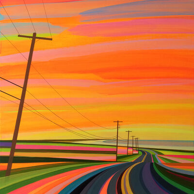 Grant Haffner, 'Sunset On Old Montauk Highway (orange)', 2016