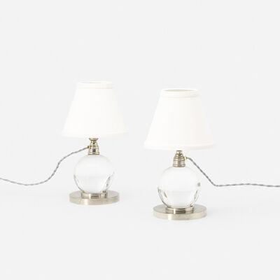 Jacques Adnet, 'table lamps model 7706, pair', c. 1930