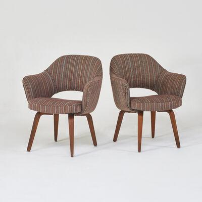 "Eero Saarinen, 'Pair of ""Executive"" armchairs'"