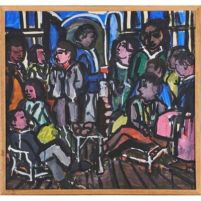 Jay Milder, 'Rare 1967 Figurative Abstraction piece (Subway Series)', 1960-1969