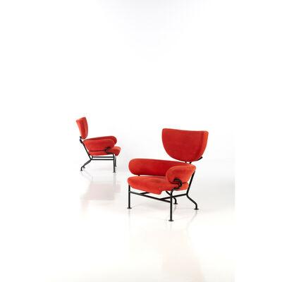 Franco Albini, 'Model No. PL19; Pair of armchairs', 1957