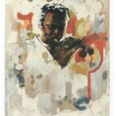 Jeff Donaldson, 'Study for the Wall of Respect (Miles Davis)', 1967
