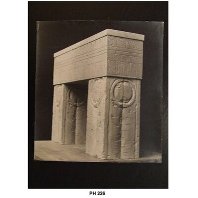Constantin Brâncuși, 'Maquette for the Gate of the Kiss', ca. 1935