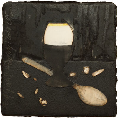 Donald Sultan, 'Egg and Cup May 12 2012', 2012