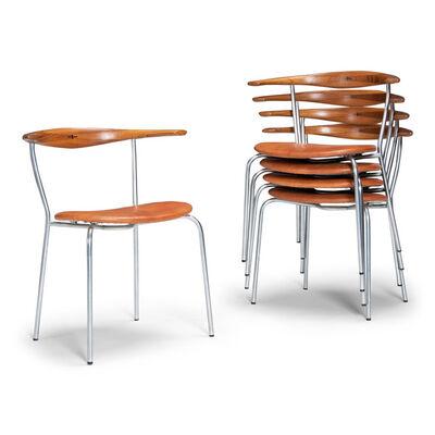 Hans Jørgensen Wegner, 'A set of dining chairs, model JH701', 1965