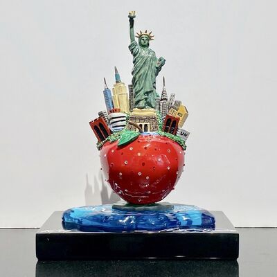 Charles Fazzino, 'Little Bronze Apple Sculpture', 2018