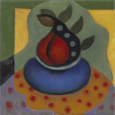 Frances Cox, 'Two Red Pears in Blue Bowl', 2019