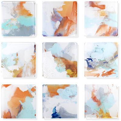 "John Schuyler, '""Vetro 0920-02"" Mixed media, abstract paintings behind acrylic tiles', 2020"