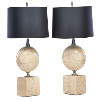 Attributed to Philippe Barbier, 'Pair of table lamps'