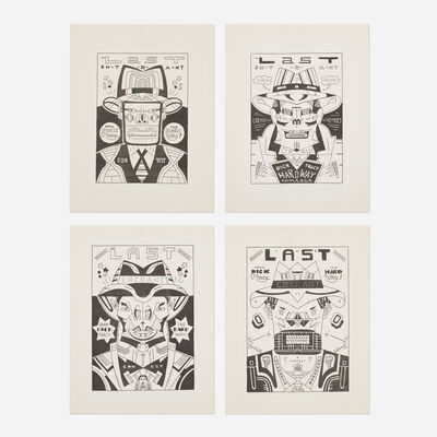 Karl Wirsum, 'Draw Dick Tracy the Hard Way (four works)', 1978