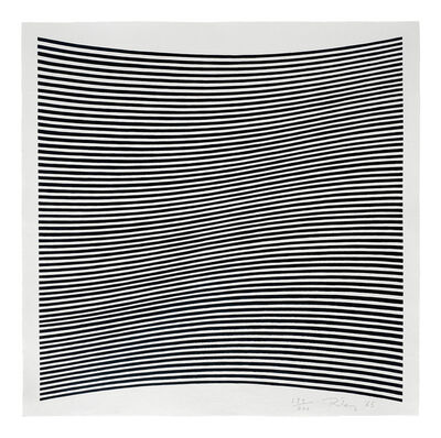 Bridget Riley, 'Untitled [La Lune en Rodage - Carlo Belloli]', 1965