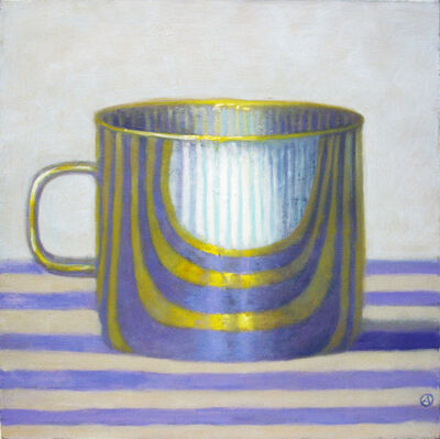 Olga Antonova, 'Gold Cup on Purple Stripes', 2012