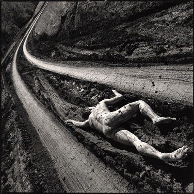 Arthur Tress, 'Road Kill (a nude male is shown lying in a rutted road)', 1996