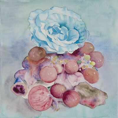Korehiko Hino, 'Blue Rose and Liver', 2014