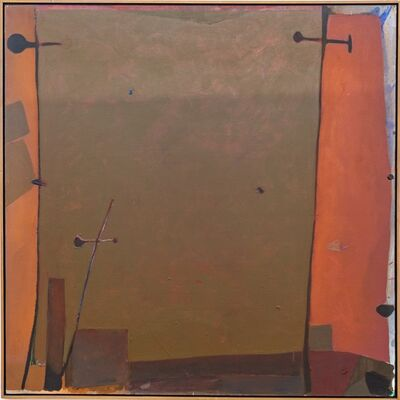 Otto Rogers, 'Orange Edge - Olive-green rectangle surrounded in oranges, and reds', 1979