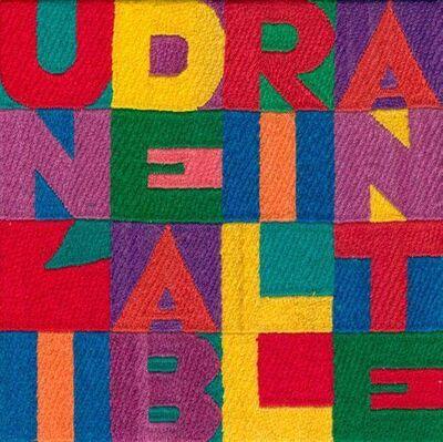 Alighiero Boetti, 'Un' Idea Brillante', 1992