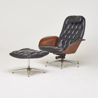 George Mulhauser, 'Lounge chair and ottoman', 1960s