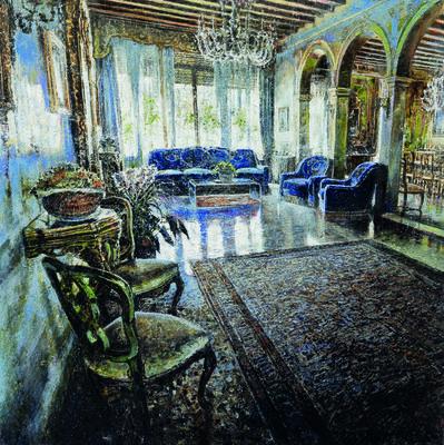 Raffaele Minotto, 'Salotto blu', 2019