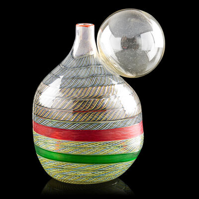 Yoichi Ohira, 'Bolla vase with original framed drawing, Murano, Italy', 1995