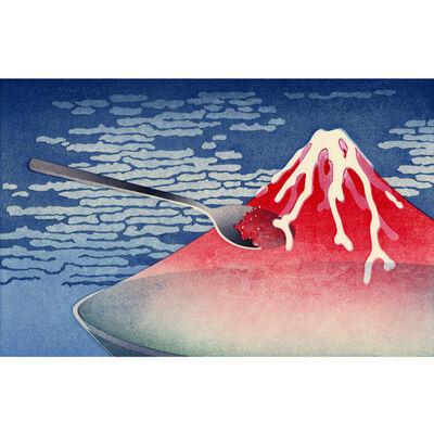 Shoji Miyamoto, 'Red Fuji as shaved ice', 2011