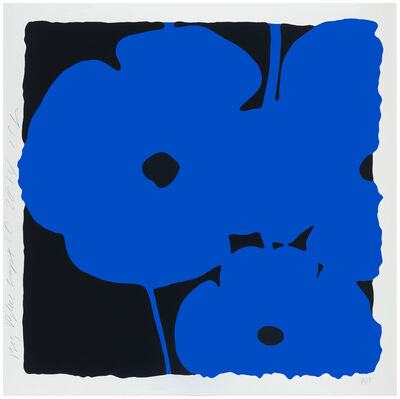 Donald Sultan, 'Big Poppies, Sept 10, 2014 (Blue)', 2014