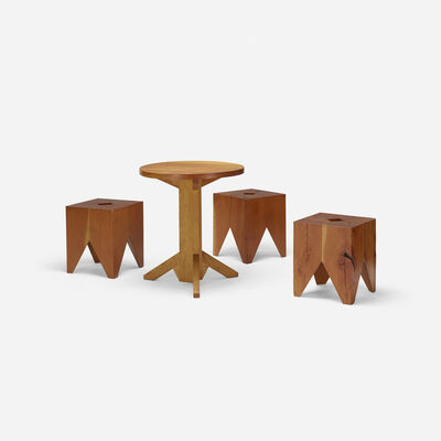 Paul Discoe, 'Set of three Cube chairs with table', c. 2010