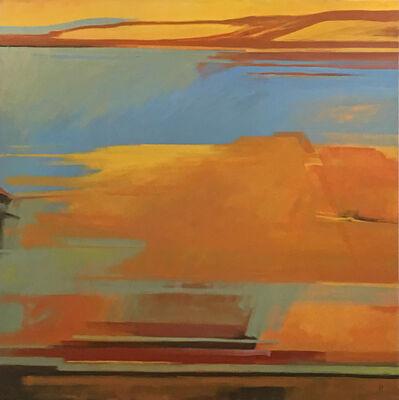 Harold Joiner, 'Invented Mesa #2 - abstract landscape, mesa, southwest, gold, orange, earth tones, square', 2019