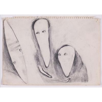 Enzo Cucchi, 'Angeli di occhi', 1990