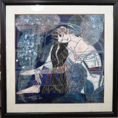 Ting Shao Kuang, 'Ting Shao Kuang Original Painting on Handmade Rice Paper', 1984