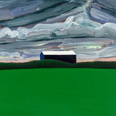 Charles Pachter, 'Blue Barn, Green Field', 1984