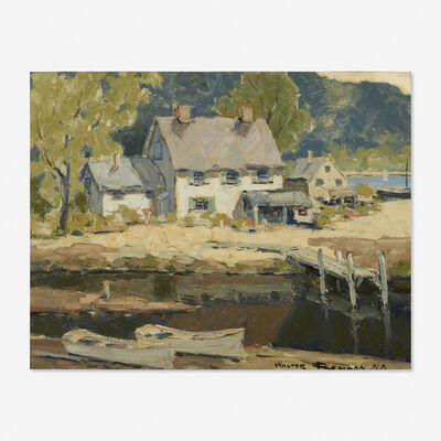 Walter Farndon, 'Houses by the Water (double sided)'