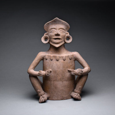 Unknown Pre-Columbian, 'Mixtec Terracotta Incensario in the Form of a Deity ', 1200-1400