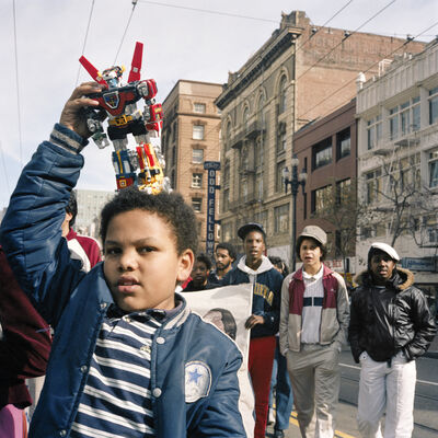 Janet Delaney, 'Boy with Voltron, First Martin Luther King Jr. Day Parade, 1986', 2018