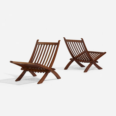 Hans Jørgensen Wegner, 'Folding chairs, pair', 1962